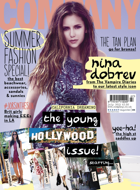 Nina Dobrev covers Company July 2013