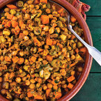Chickpea with Root Veggie Tagine
