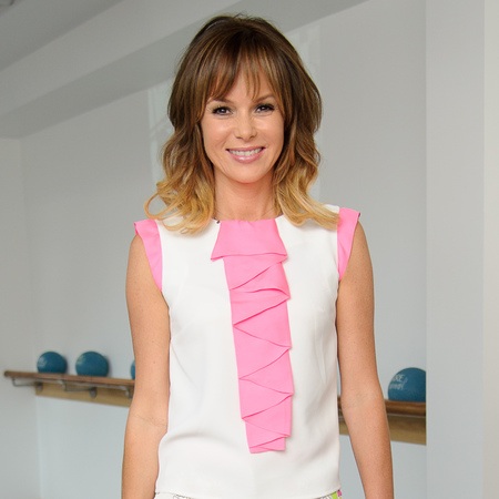 Amanda Holden shows off toned legs in white summer shorts
