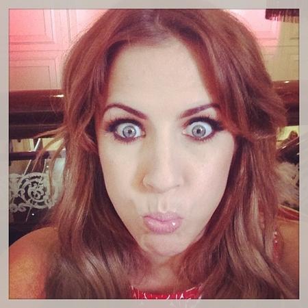 Caroline Flack funny face selfie