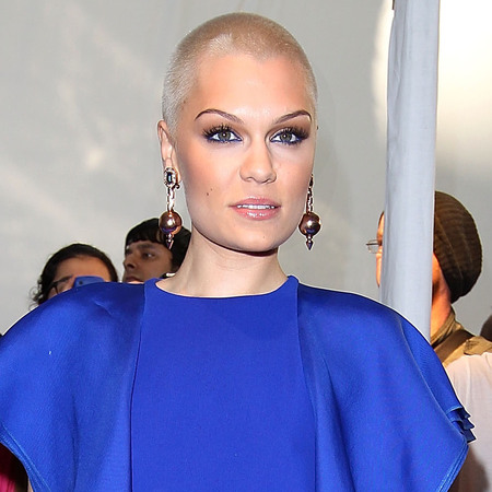 Jessie J's blonde buzz cut
