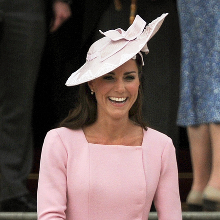 Kate Middleton does pretty in pink