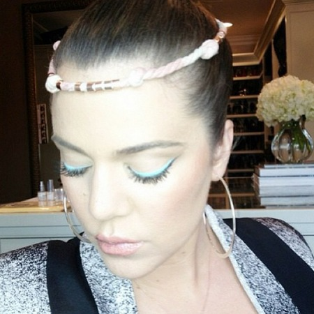 Khloe Kardashian blue eyeliner from Kardashian Beauty collection