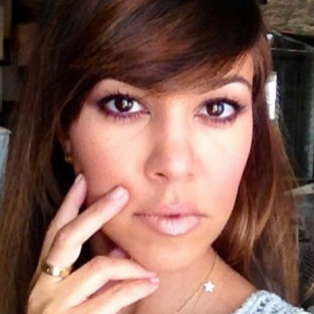 Kourtney Kardashian with Nude Modern Mauve nail polish