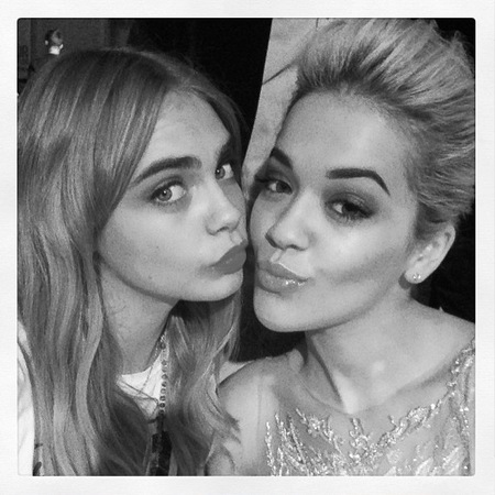 Cara Delevingne and Rita Ora together at Glamour Awards