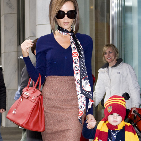 Victoria Beckham's red Hermes bag