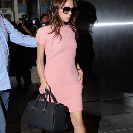 Victoria Beckham's black holdall bag