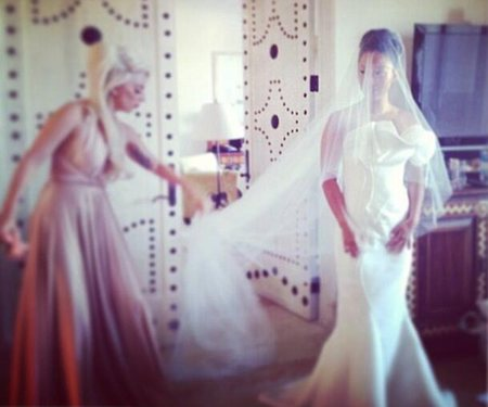 Lady Gaga is bridesmaid at friend's wedding
