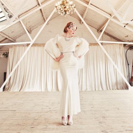 1930s inspired wedding fashion