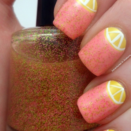 Zingy grapefruit nails