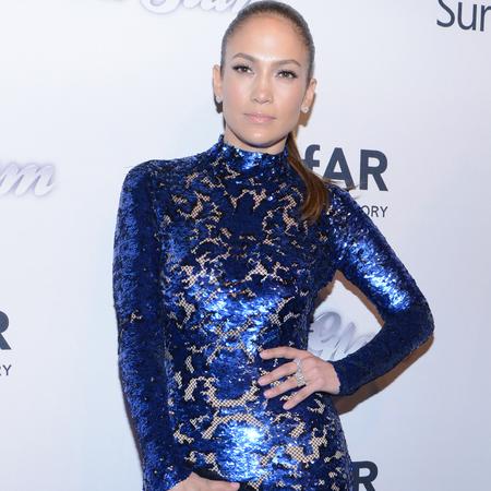 Jennifer Lopez in Tom Ford dress at Amfar gala