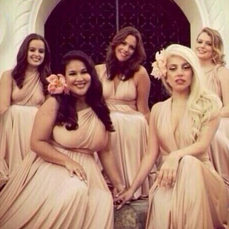 9. Matching bridesmaids dresses