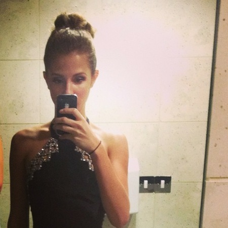 Millie Mackintosh's with hair up for Made In Chelsea