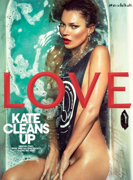 BEST KATE MOSS MOMENTS: Naked bath for Love magazine
