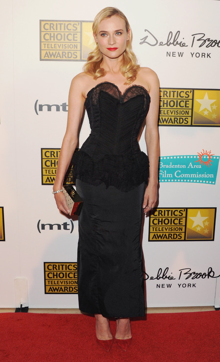 Diane Kruger wears Nina Ricci at 2013 Critics' Choice Television Awards