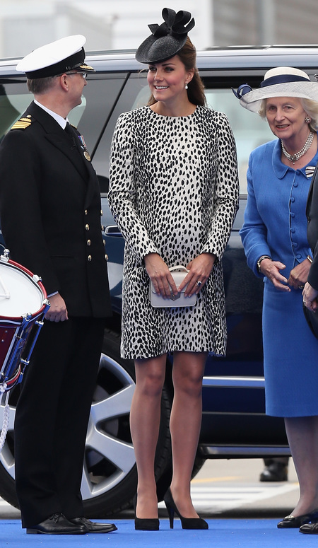 Kate Middleton in Hobbs at Royal PRincess ship naming ceremony