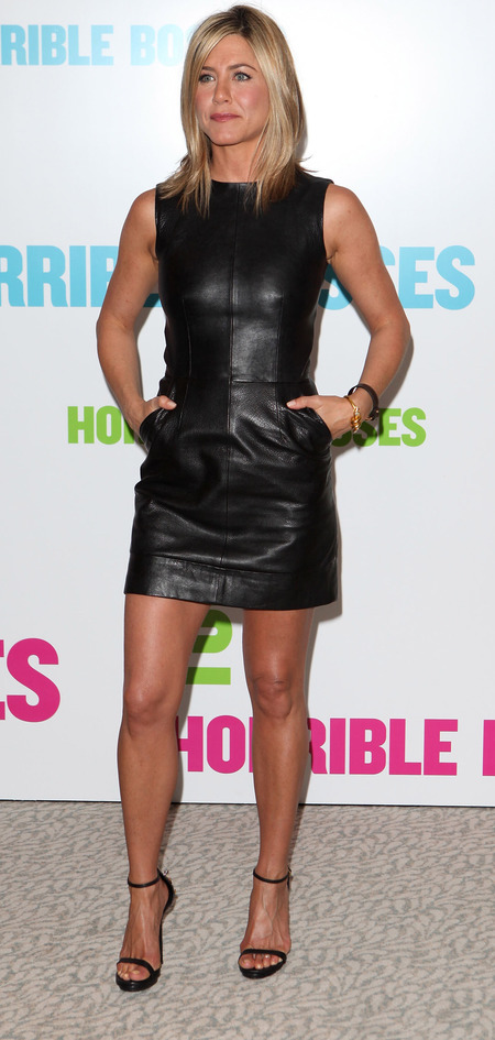 Jennifer Aniston's Horrible Bosses leather dress