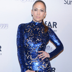 Jennifer Lopez hits amfAR gala in shiny Tom Ford