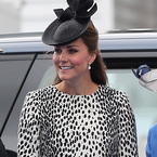 Pregnant Kate Middleton dons Dalmatian today