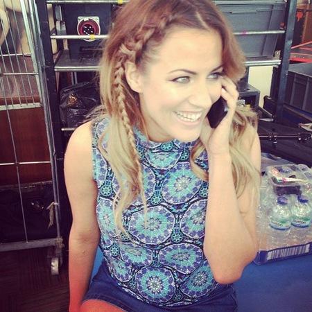 Caroline Flack's front braid