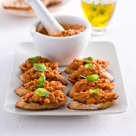National Picnic Week Recipe: Crostini with tapenade of roasted red peppers