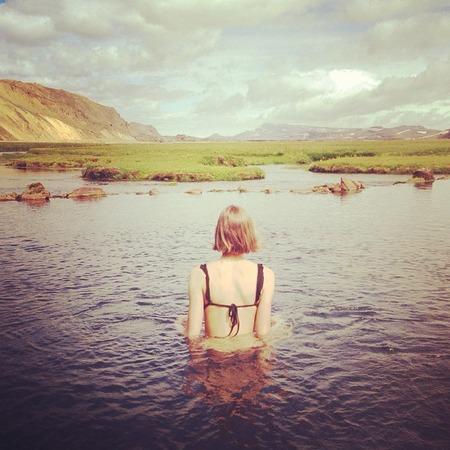 Karlie Kloss in Iceland
