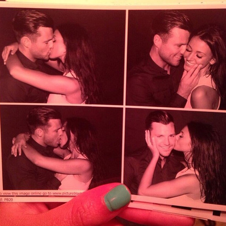 Michelle Keegan and Mark Wright kissing photos