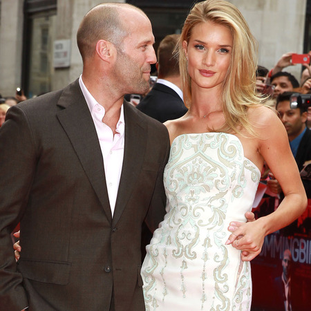 Rosie Huntington Whiteley and Jason Statham at Hummingbird premiere