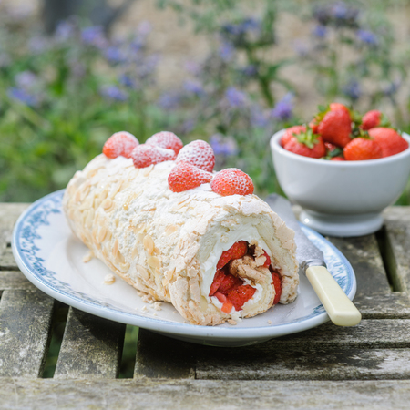 Strawberry roulade recipe