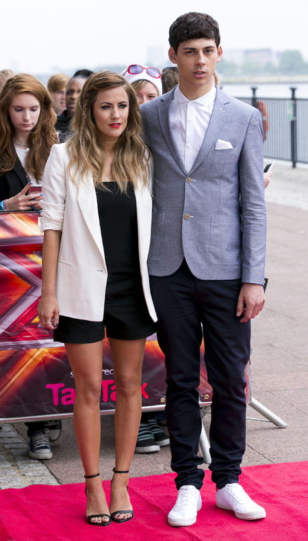 Caroline FLack and Matt Richardson at London X Factor auditions 2013