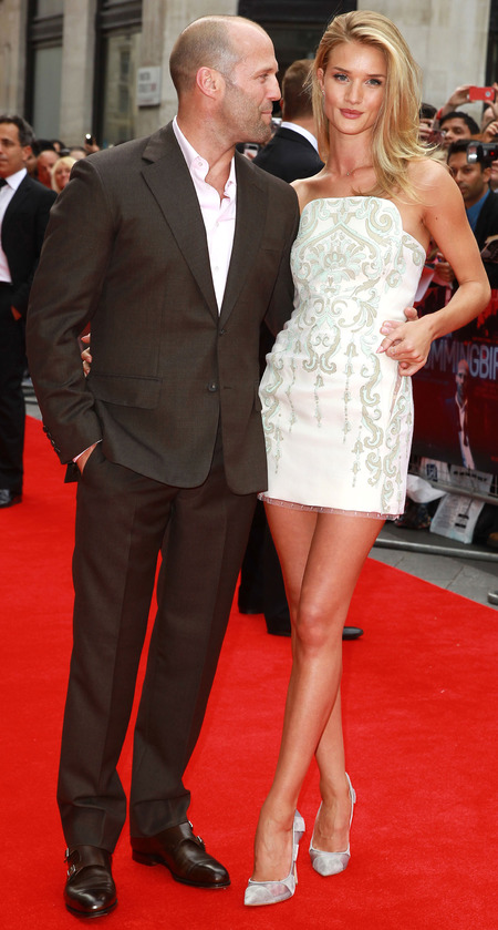 Rosie Huntington-Whiteley in mini cocktail dress