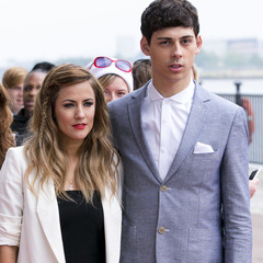 Caroline FLack and Matt Richardson at London X Factor auditions 2013