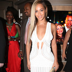 Beyonce wows in Roberto Cavalli to party with Jay-Z