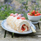 Strawberry Meringue Roulade with Mascarpone recipe
