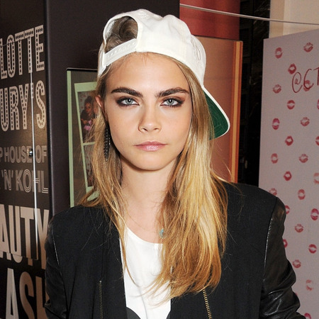 Cara Delevingne attends closing of Charlotte Tilbury's House of Rock n Khol at Selfridges - strong eyebrows - handbag.com
