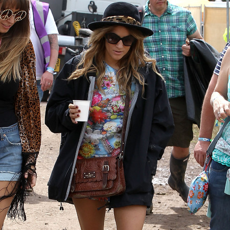 Caroline Flack at Glastonbury 2013