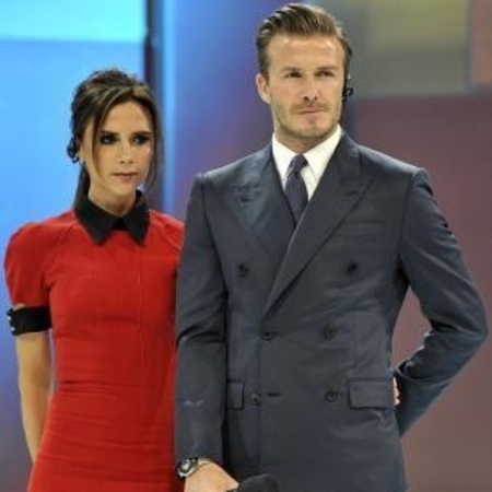 Victoria Beckham and David Beckham in China