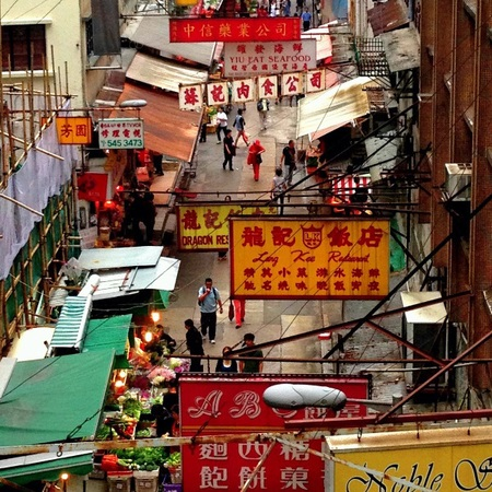 Hong Kong markets, travel