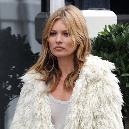 Kate Moss shoots new Stuart Weitzman campaign in London