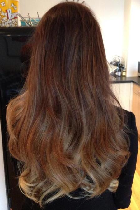 Lucy Watson's dip-dyed hair extensions