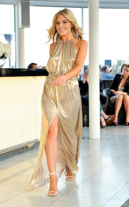 Mollie King turns model for Melissa Odabash/Julien Macdonald swimwear