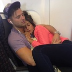 Mark Wright & Michelle Keegan cuddle asleep