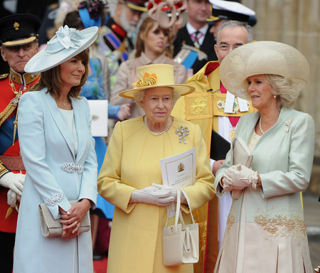 The Queen, Carole Middleton and Camilla
