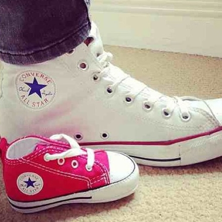 Frankie Sandford first baby converse shoes