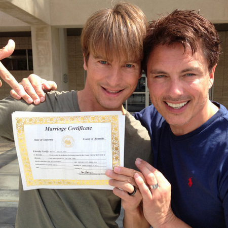 John Barrowman marries boyfriend
