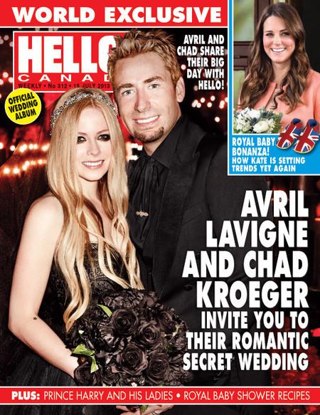 Avril Lavigne wedding dress
