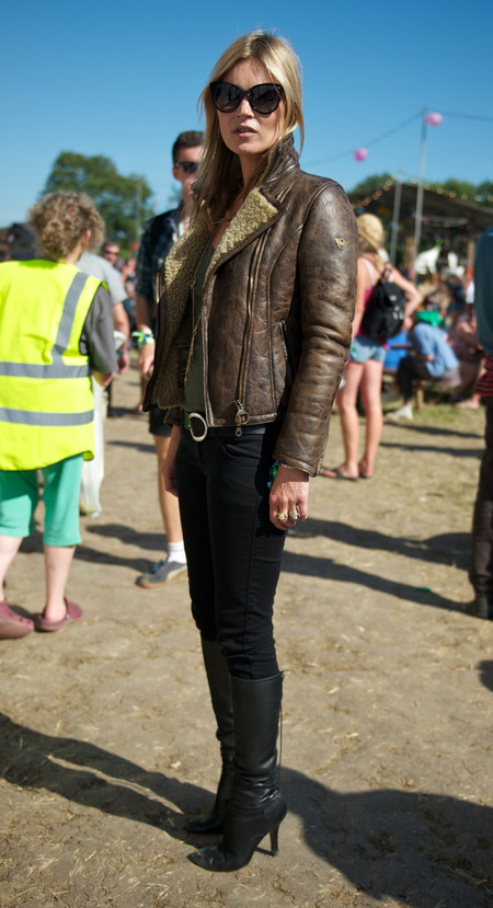 Kate Moss at Glastonbury 2013