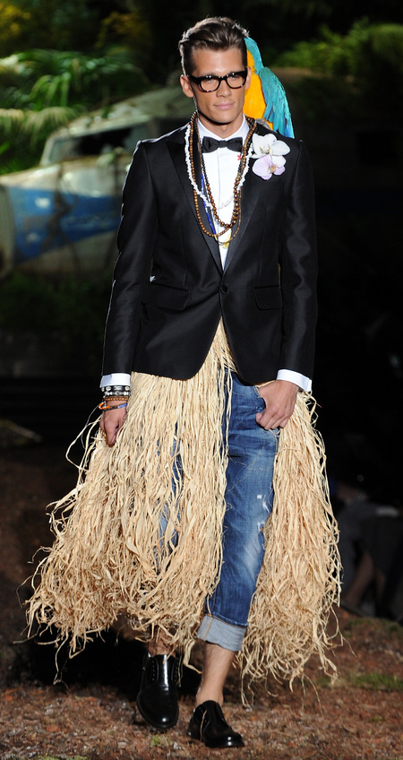 Look from the Dsquared2 S/S 14 collection