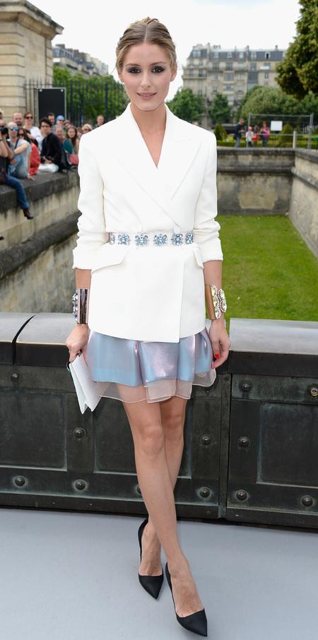 Olivia Palermo's iridescent skirt