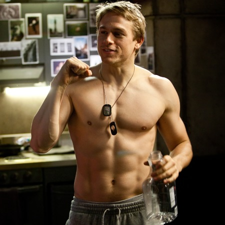 Charlie Hunnam topless in Pacific Rim